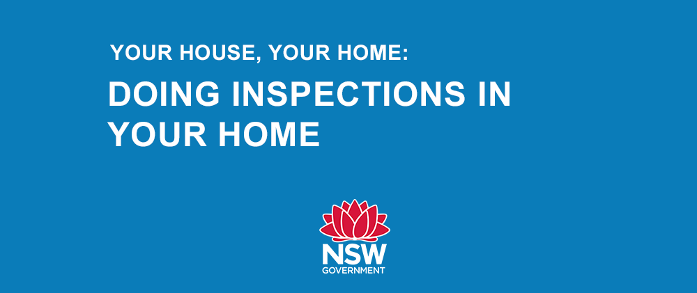 Doing inspections in your home
