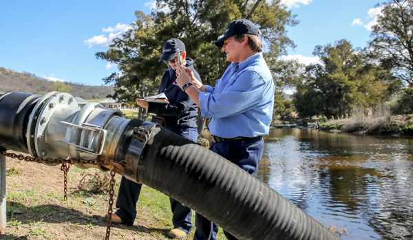 30 new NRAR recruits has begun this week with Armidale water users.